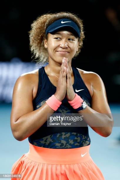 Naomi Osaka of Japan celebrates winning her Women's Singles Final match against Jennifer Brady of the United States during day 13 of the 2021...