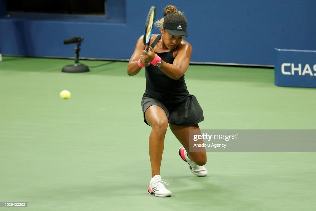 Naomi Osaka of Japan competes against Serena Williams (not seen) of USA during US Open 2018 women's final match on September 8, 2018 in New York, United States.