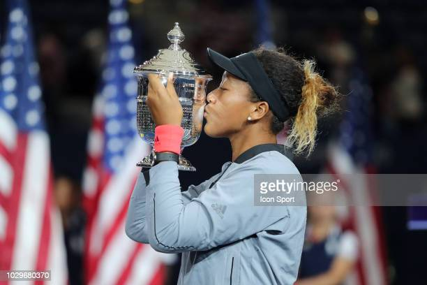 Naomi Osaka of Japan during the women's final of the 2018 US Open Tennis Championships on September 8, 2018 in New York, United States.