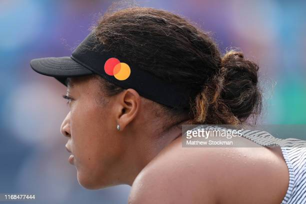 Naomi Osaka of Japan plays Sofia Kenin during the Western Southern Open at Lindner Family Tennis Center on August 16 2019 in Mason Ohio