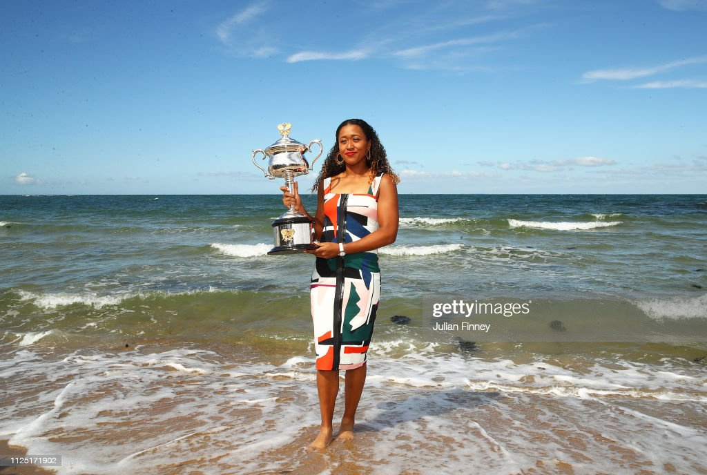 2019 Australian Open Trophy Media Opportunity : News Photo