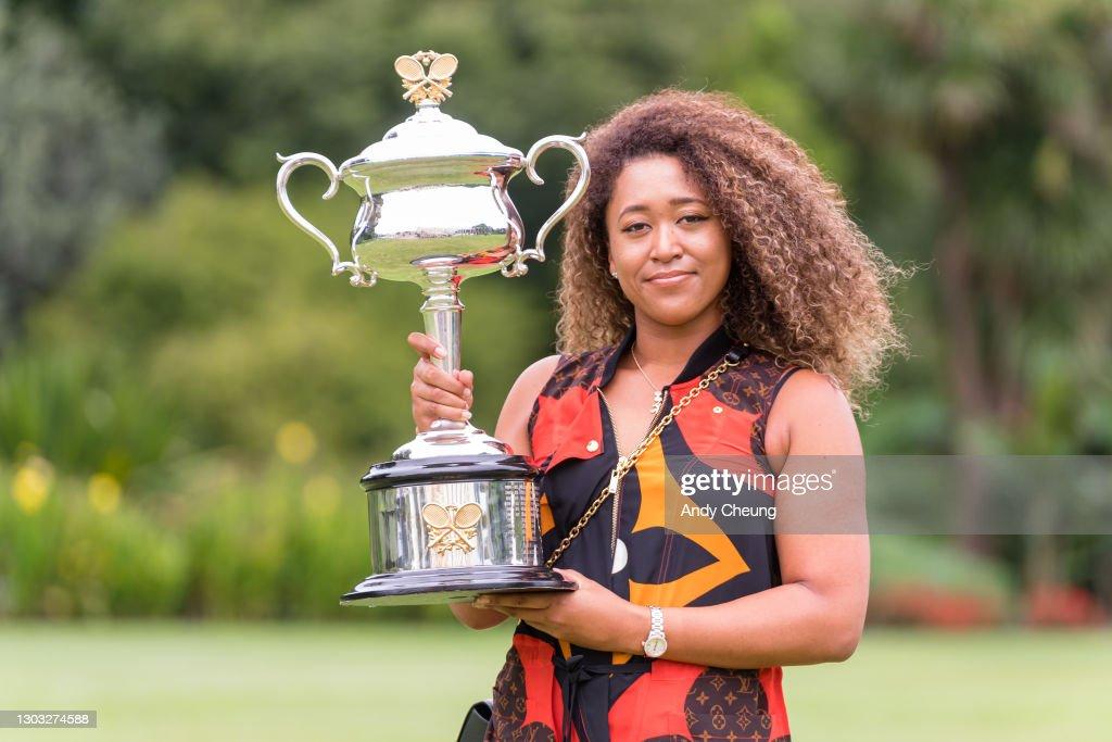 2021 Australian Open Women's Trophy Media Opportunity : News Photo