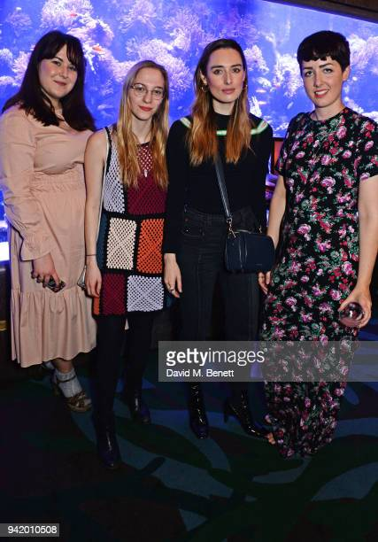 Naomi Pike Sabrina Carder Flora Macdonald Johnston and Amy Hanson attend an exclusive dinner hosted by Harley VieraNewton to celebrate her SS18...