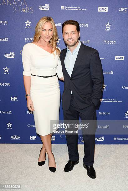 Naomi Priestley and Jason Priestley attend the Telefilm Canada Oscar Week Gala held at The Four Seasons Hotel on February 19 2015 in Beverly Hills...