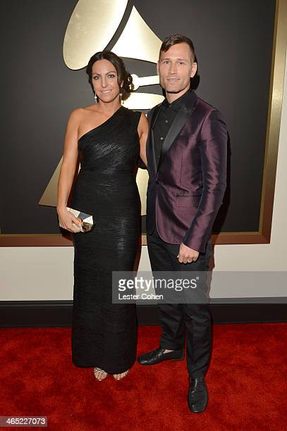 Naomi Raddon and DJ and Producer Kaskade attend the 56th GRAMMY Awards at Staples Center on January 26 2014 in Los Angeles California