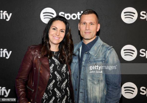 Naomi Raddon and DJ Kaskade attend the Spotify Best New Artist Nominees celebration at Belasco Theatre on 9 2017 in Los Angeles California