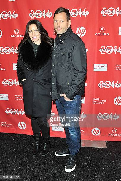 Naomi Raddon and DJ Kaskade attend the Under The Electric Sky premiere on January 18 2014 in Park City Utah