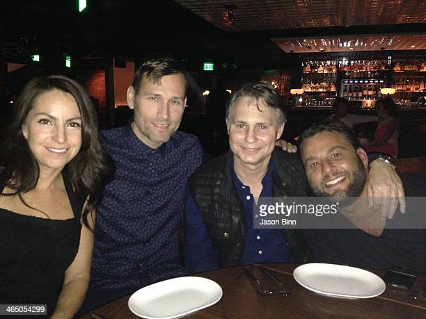 Naomi Raddon DJ Kaskade DuJour Media Founder Jason Binn and nightclub owner Dave Grutman pose circa January 2014 in Miami Florida