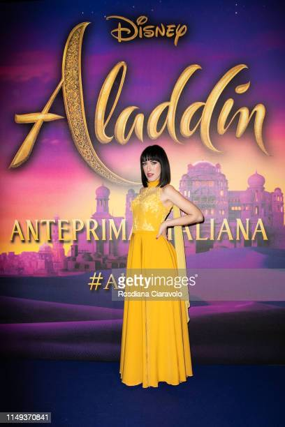 Naomi Rivieccio attends the Aladdin photocall and red carpet at The Space Cinema Odeon on May 15 2019 in Milan Italy