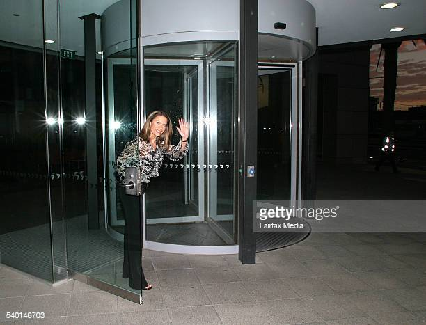 Naomi Robson waves goodbye as she leaves the channel seven studios at Docklands after finishing her final show of Today Tonight. Friday 1st December...