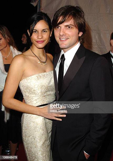 Naomi Sablan and Adam Scott during Palm Springs International Film Festival Awards Gala presented by Tiffany Co Arrivals at Palm Springs Convention...