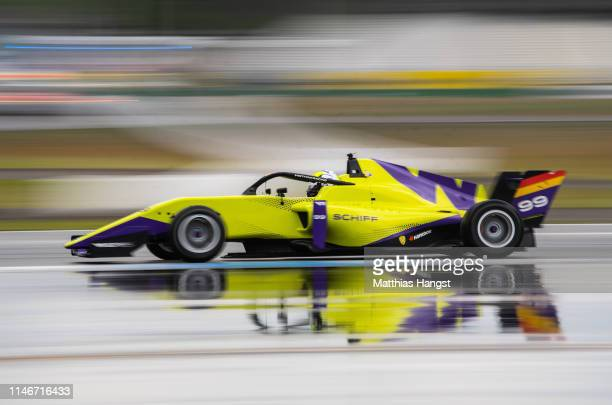 Naomi Schiff of Germany drives during a training session prior to the first race of the W Series at Hockenheimring on May 03, 2019 in Hockenheim,...