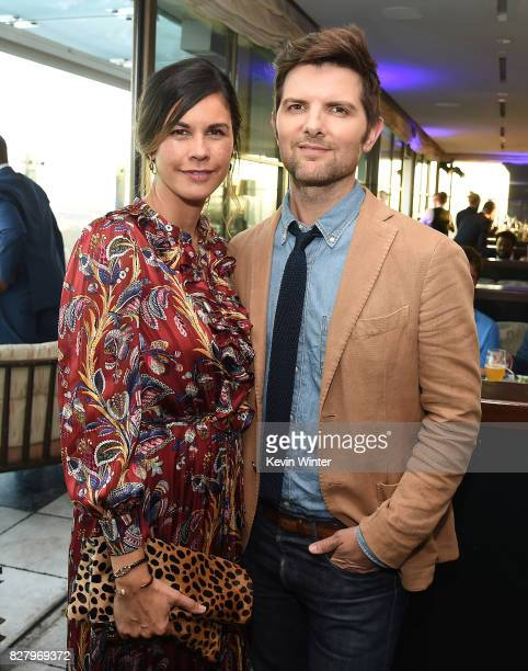 Naomi Scott and Adam Scott attend the FOX 2017 Summer TCA Tour after party on August 8 2017 in West Hollywood California