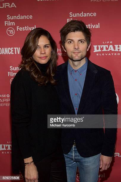 "Naomi Scott and Adam Scott attend ""The Overnight"" premiere at the 2015 Sundance Film Festival"