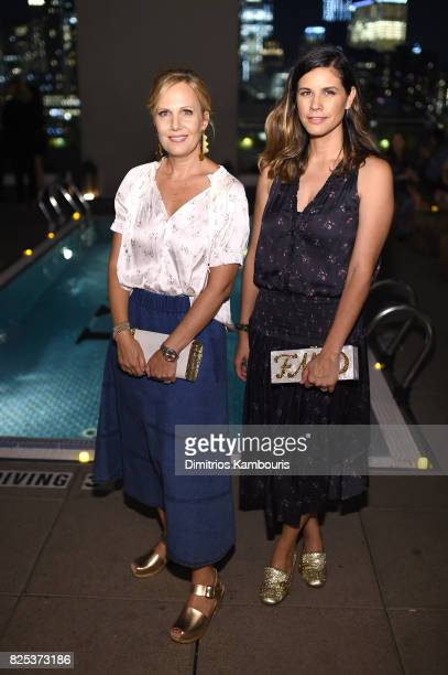 Naomi Scott and Julie Rudd attend the Fun Mom Dinner After Party at The Jimmy at the James Hotel on August 1 2017 in New York City