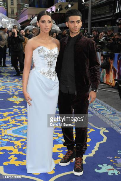 Naomi Scott and Mena Massoud attend the European Gala screening of Aladdin at Odeon Luxe Leicester Square on May 9 2019 in London England