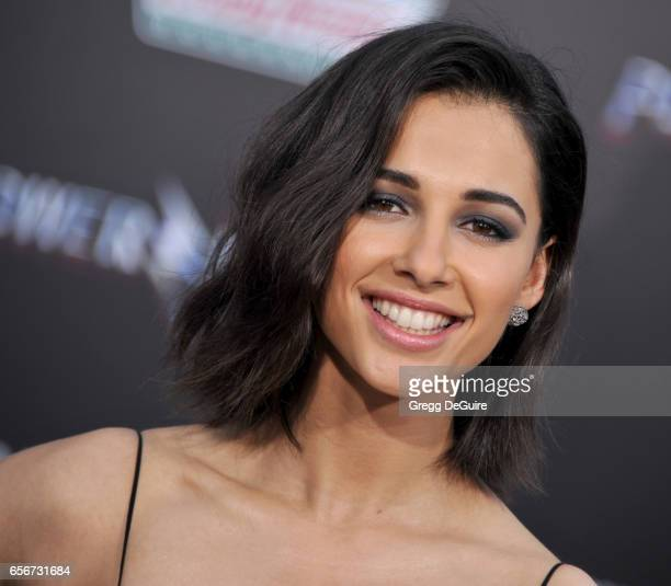 Naomi Scott arrives at the premiere of Lionsgate's 'Power Rangers' at The Village Theatre on March 22 2017 in Westwood California