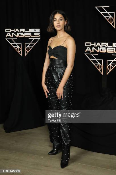 """Naomi Scott attends a photocall for """"Charlie's Angels"""" at the Whitby Hotel on November 07, 2019 in New York City."""