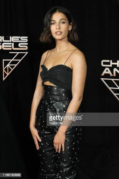 Naomi Scott attends a photocall for Charlie's Angels at the Whitby Hotel on November 07 2019 in New York City