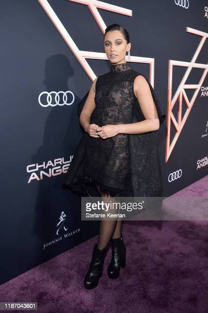 Naomi Scott attends Audi Arrivals At The World Premiere Of Charlie's Angels on November 11 2019 in Los Angeles California
