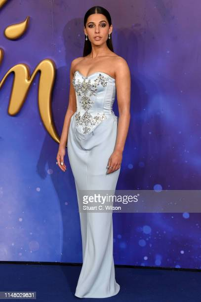 """Naomi Scott attends the """"Aladdin"""" European Gala at Odeon Luxe Leicester Square on May 09, 2019 in London, England."""