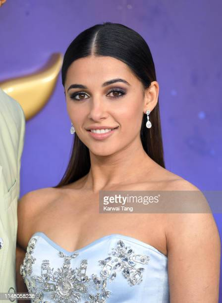 Naomi Scott attends the Aladdin European Gala at Odeon Luxe Leicester Square on May 09 2019 in London England