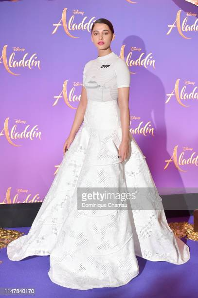 "Naomi Scott attends the ""Aladdin"" Paris Gala Screening at Cinema Le Grand Rex on May 08, 2019 in Paris, France."