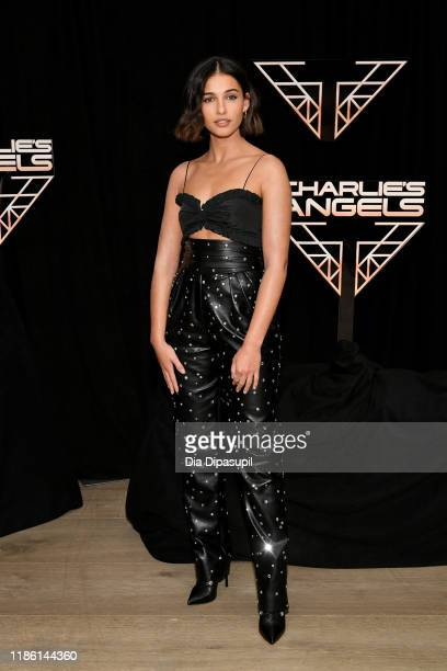 Naomi Scott attends the Charlie's Angels photo call at the Whitby Hotel on November 07 2019 in New York City