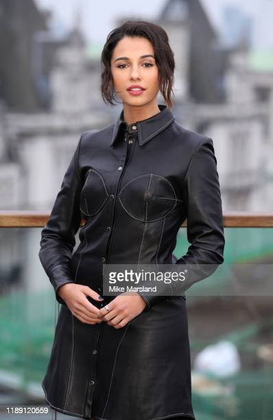 Naomi Scott attends the Charlie's Angels photocall at The Corinthia Hotel on November 21 2019 in London England