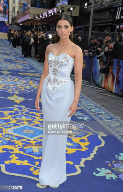 Naomi Scott attends the European Gala screening of Aladdin at Odeon Luxe Leicester Square on May 9 2019 in London England