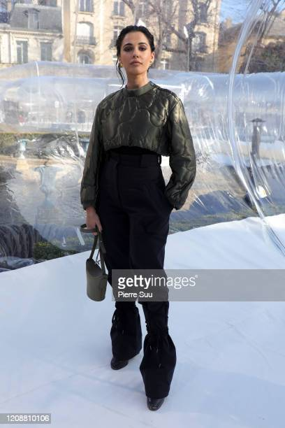 Naomi Scott attends the Kenzo show as part of the Paris Fashion Week Womenswear Fall/Winter 2020/2021 on February 26, 2020 in Paris, France.