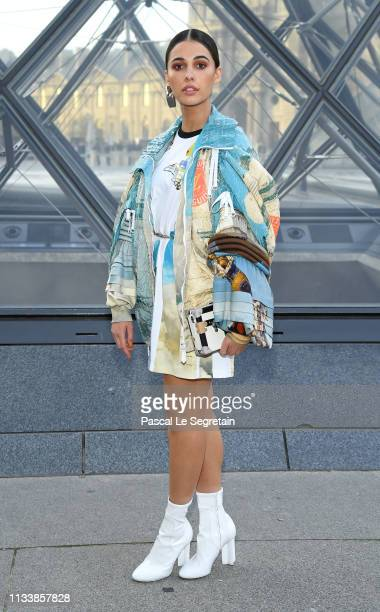 Naomi Scott attends the Louis Vuitton show as part of the Paris Fashion Week Womenswear Fall/Winter 2019/2020 on March 05, 2019 in Paris, France.