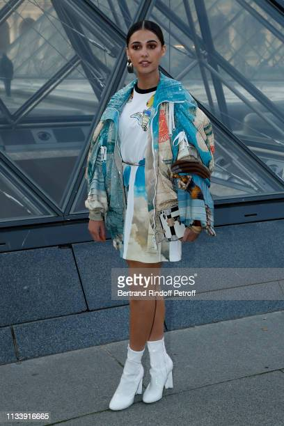 Naomi Scott attends the Louis Vuitton show as part of the Paris Fashion Week Womenswear Fall/Winter 2019/2020 on March 05 2019 in Paris France