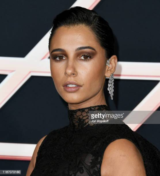 Naomi Scott attends the premiere of Columbia Pictures' Charlie's Angels at Westwood Regency Theater on November 11 2019 in Los Angeles California
