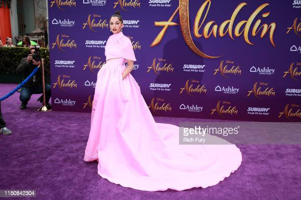 Naomi Scott attends the premiere of Disney's Aladdin on May 21 2019 in Los Angeles California