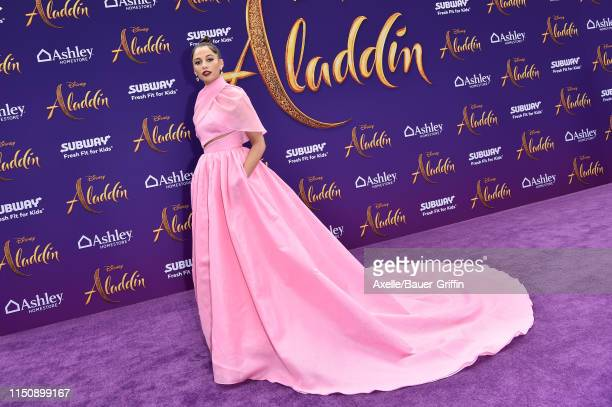 """Naomi Scott attends the premiere of Disney's """"Aladdin"""" on May 21, 2019 in Los Angeles, California."""
