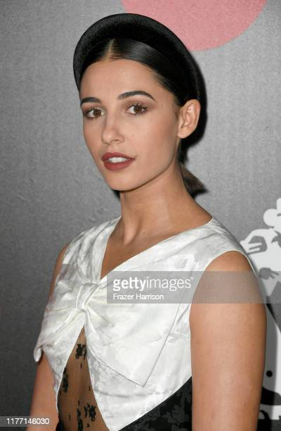 Naomi Scott attends the Will Rogers 78th Annual Pioneer Dinner honoring Elizabeth Banks at The Beverly Hilton Hotel on September 25 2019 in Beverly...
