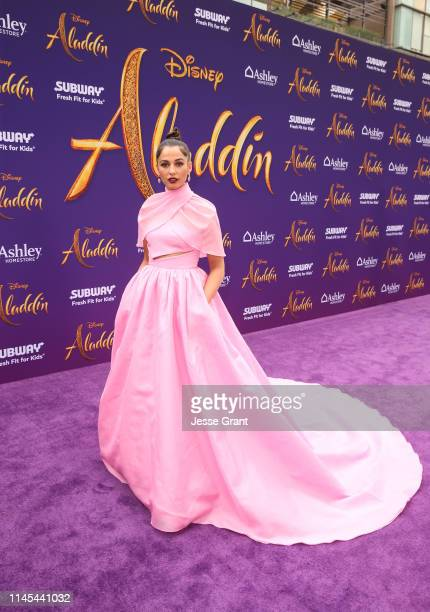Naomi Scott attends the World Premiere of Disney's Aladdin at the El Capitan Theater in Hollywood CA on May 21 in the culmination of the film's Magic...