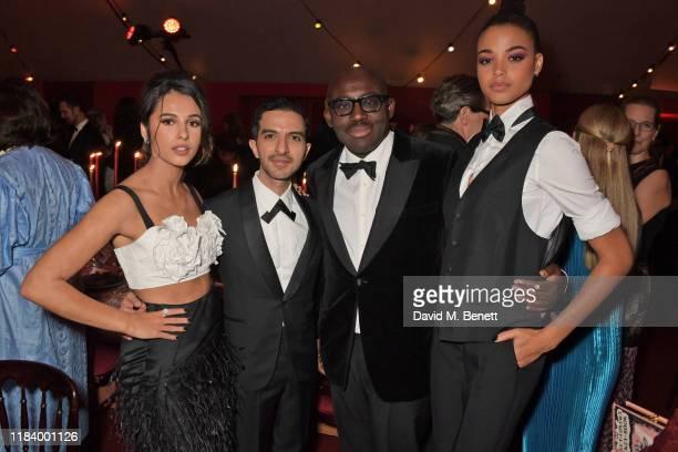 Naomi Scott, Founder & CEO of Business of Fashion Imran Amed, Edward Enninful and Ella Balinska attend the gala dinner in honour of Edward Enninful,...
