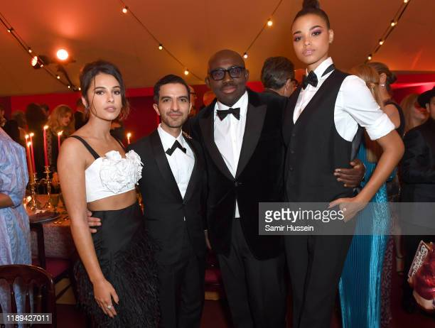 Naomi Scott, Imran Amed, Edward Enninful and Ella Balinska attend the gala dinner in honour of Edward Enninful, winner of the Global VOICES Award...