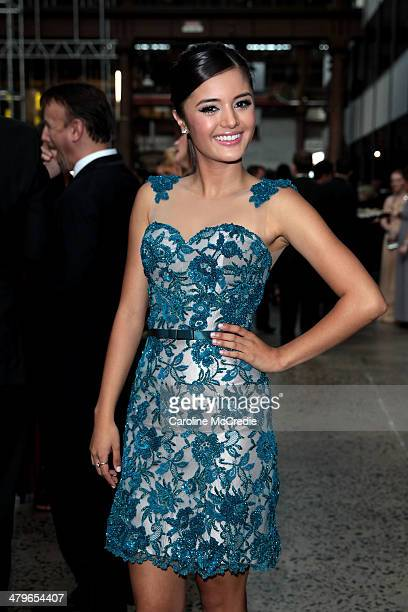 Naomi Sequeira poses during the 12th ASTRA Awards at Carriageworks on March 20 2014 in Sydney Australia