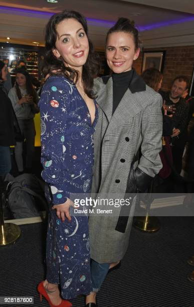 Naomi Sheldon and Hayley Atwell attend the press night after party for 'Good Girl' at Trafalgar Studios on March 6 2018 in London England