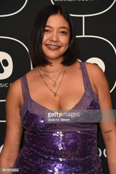 Naomi Shimada attends the Brits Awards 2018 After Party hosted by Warner Music Group Ciroc and British GQ at Freemasons Hall on February 21 2018 in...