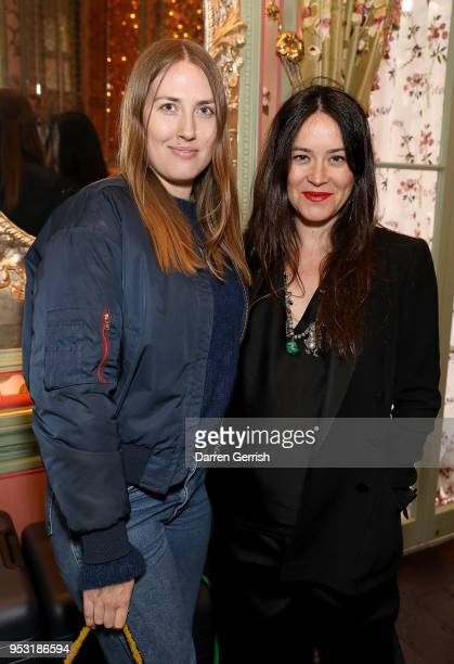 Naomi Smart and Alex Eagle attend the Away x Alex Eagle collaboration launch dinner at Annabel's on April 30 2018 in London England