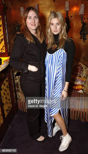 Naomi Smart and Camille Charriere attends a cocktail party celebrating the launch of Vanessa Seward's first London store at Loulou's on March 15 2017...