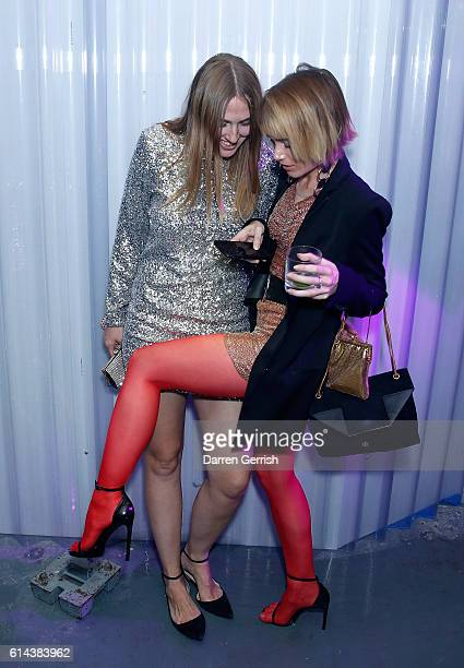 Naomi Smart and Julia Hobbs attend Dazed magazine's 25th birthday party in partnership with Calvin Klein at The Store Studios on October 13, 2016 in...