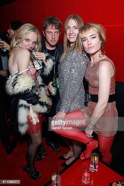 Naomi Smart and Julia Hobbs with guests attending Dazed magazine's 25th birthday party in partnership with Calvin Klein at The Store Studios on...
