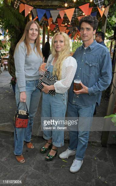 Naomi Smart Hannah Weiland and Arthur Guinness attend the VIP London launch of the Barbour by ALEXACHUNG collection at The Albion on June 20 2019 in...