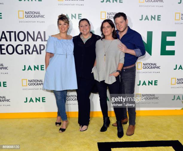 Naomi Snieckus Camryn Manheinm Marcia Gay Harden and Harry Ford arrive at the premiere of National Geographic Documentary Films' 'Jane' at the...