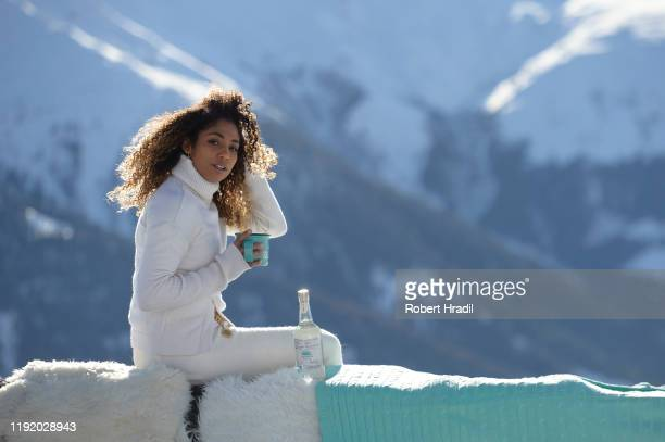 Naomi St Juste attends Casamigos in the Snow on December 04 2019 in Verbier Switzerland